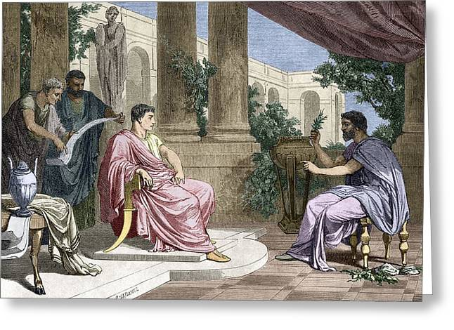 Flavius Greeting Cards - Pliny The Elder, Roman Naturalist Greeting Card by Sheila Terry