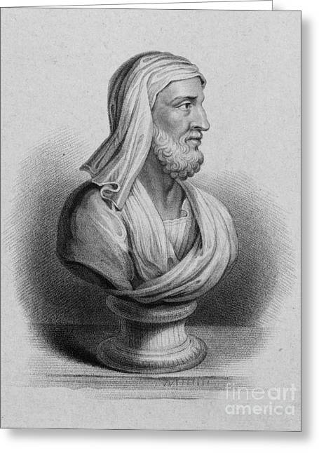 Magistrates Greeting Cards - Plutarch, Greek Historian And Biographer Greeting Card by Science Source
