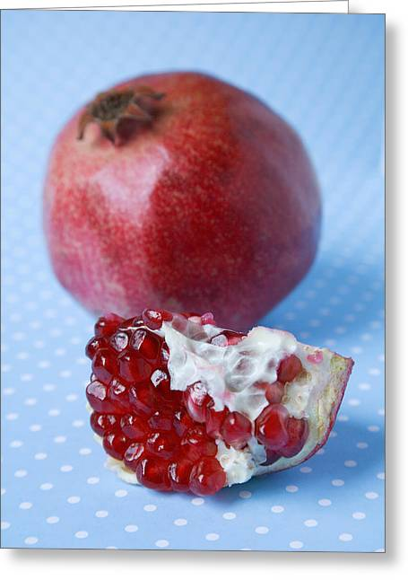 Punica Granatum Greeting Cards - Pomegranate Greeting Card by Veronique Leplat