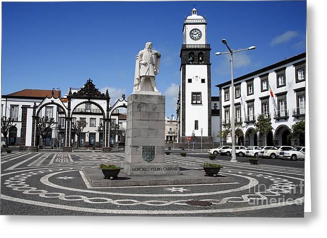 Ponta Delgada Greeting Card by Gaspar Avila