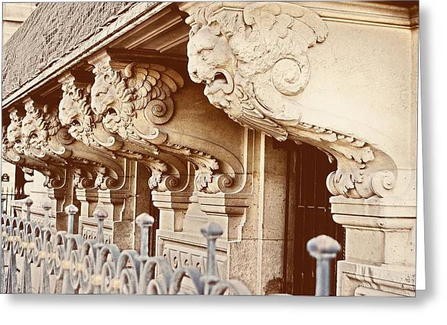 Lion Gargoyle Greeting Cards - Porte Des Lions Greeting Card by JAMART Photography