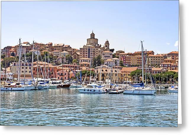 Imperia Greeting Cards - Porto Maurizio - Imperia Greeting Card by Joana Kruse