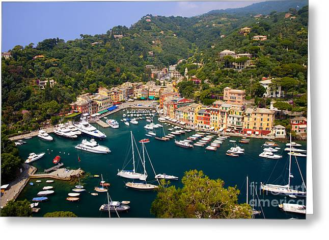 Portofino Italy Greeting Cards - Portofino Greeting Card by Brian Jannsen