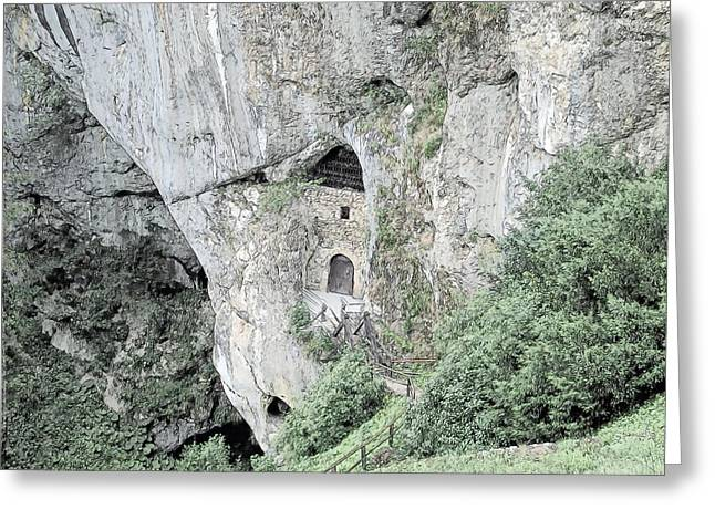 Postojna Caves Predjama Castle Slovenia Greeting Card by Joseph Hendrix
