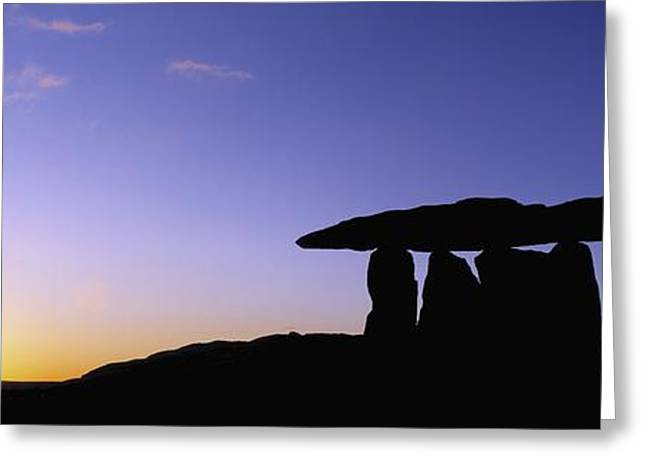 Historic Site Greeting Cards - Poulnabrone Dolmen, The Burren, Co Greeting Card by The Irish Image Collection
