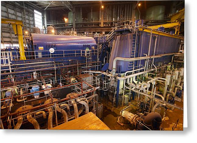 Most Photographs Greeting Cards - Power Station Turbine Hall Greeting Card by Colin Cuthbert