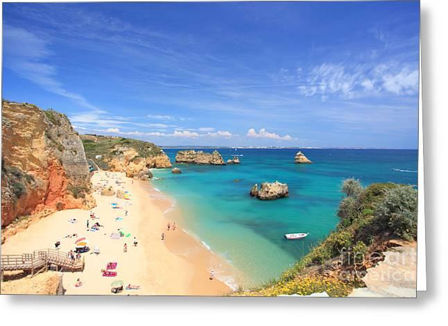 Algarve Greeting Cards - Praia da Dona Ana Greeting Card by Carl Whitfield