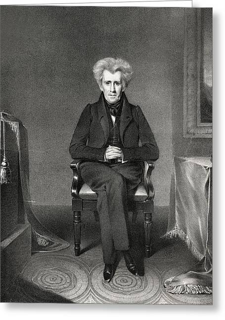 President Of America Greeting Cards - President Andrew Jackson Greeting Card by International  Images