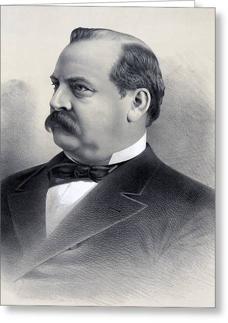 President Of America Greeting Cards - President Grover Cleveland Greeting Card by International  Images