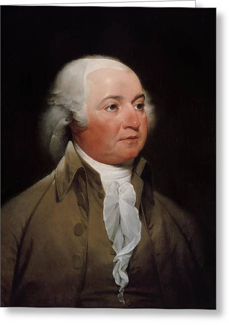 President Adams Greeting Cards - President John Adams Greeting Card by War Is Hell Store