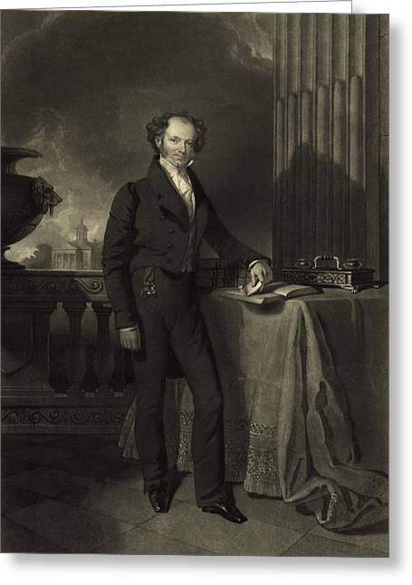 President Of America Greeting Cards - President Martin Van Buren Greeting Card by International  Images