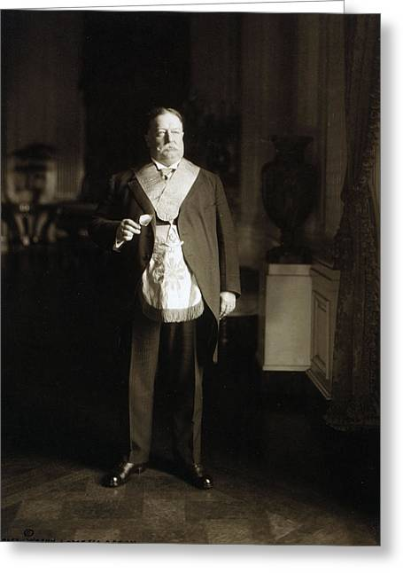 President Of America Greeting Cards - President William Howard Taft Greeting Card by International  Images