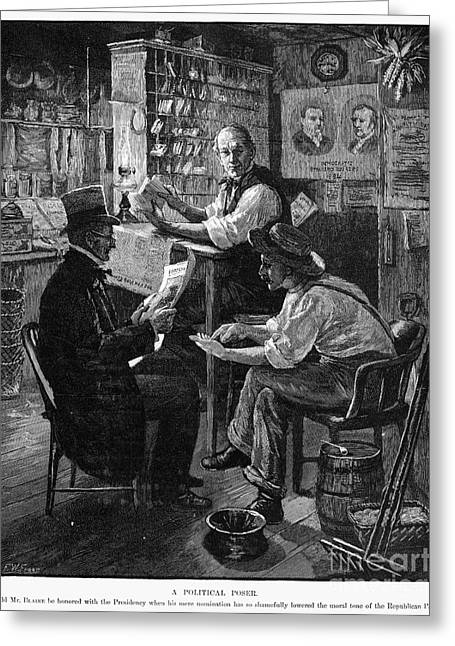 Daily Mail Greeting Cards - Presidential Campaign, 1884 Greeting Card by Granger