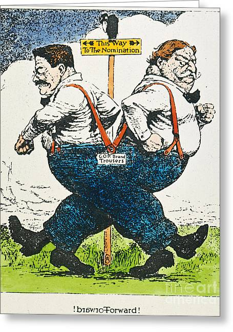 Suspenders Greeting Cards - Presidential Campaign, 1912 Greeting Card by Granger