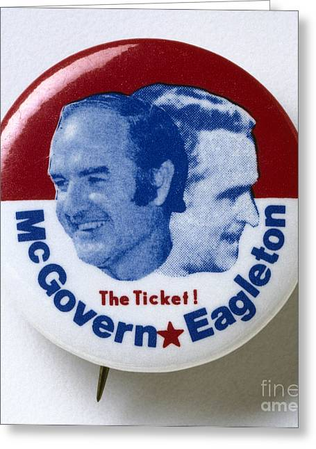 Mcgovern Greeting Cards - Presidential Campaign, 1972 Greeting Card by Granger