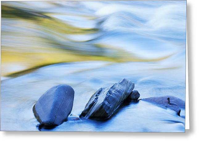 Recently Sold -  - Water Flowing Greeting Cards - Presque Isle River Rapids Greeting Card by Dean Pennala