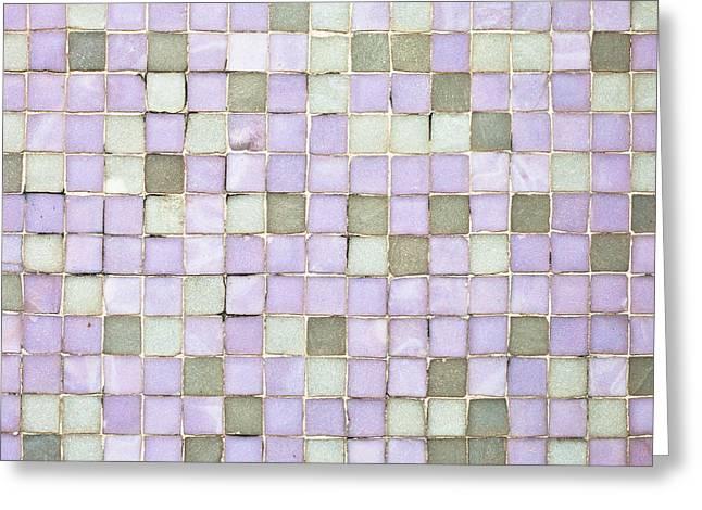 Regular Greeting Cards - Purple tiles Greeting Card by Tom Gowanlock