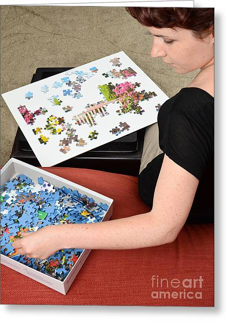Discrimination Photographs Greeting Cards - Puzzle Therapy Greeting Card by Photo Researchers, Inc.
