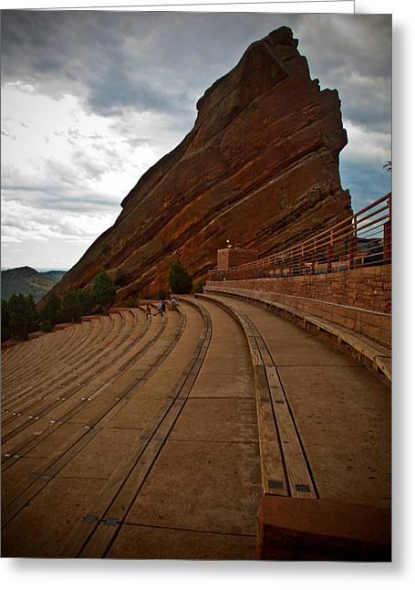 Bleachers Greeting Cards - Red Rocks Amphitheater Greeting Card by Patrick  Flynn