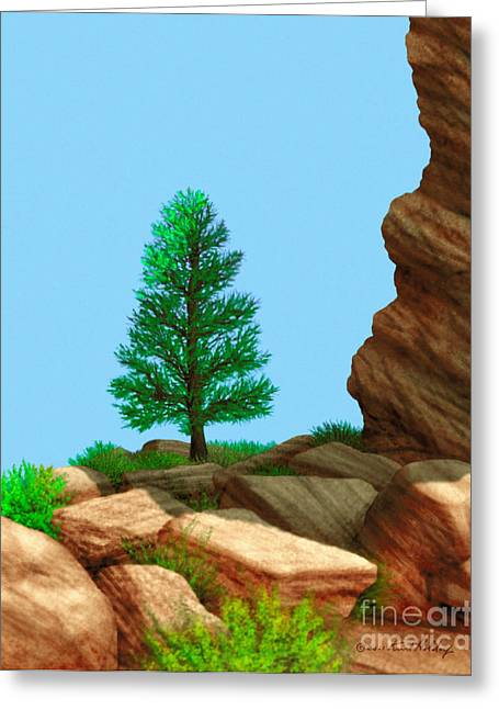 Holdorf Greeting Cards - Red Rocks Shadow of Giants Greeting Card by Kurt Holdorf
