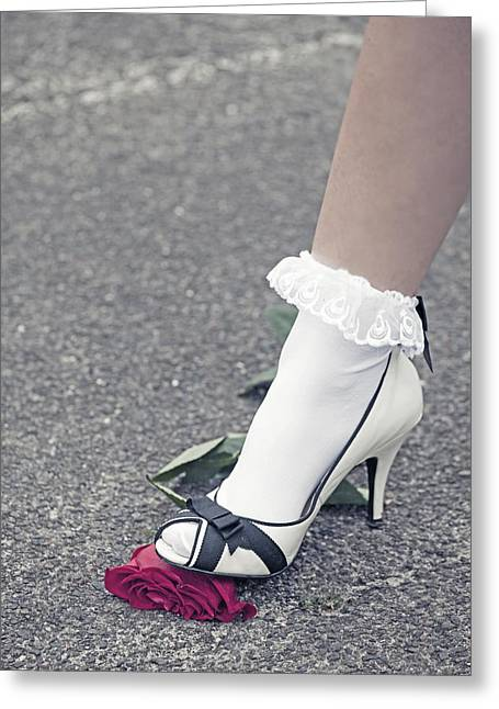 High Heeled Photographs Greeting Cards - Red Rose Greeting Card by Joana Kruse
