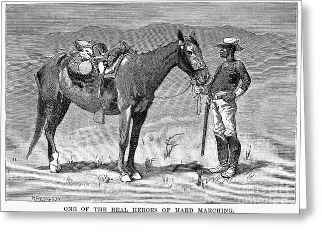 Remington Greeting Cards - REMINGTON: 10th CAVALRY Greeting Card by Granger