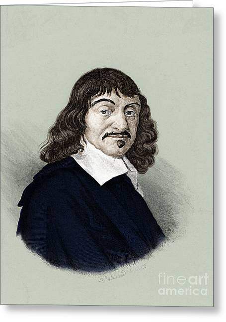 Famous People Photographs Greeting Cards - Rene Descartes, French Polymath Greeting Card by Science Source