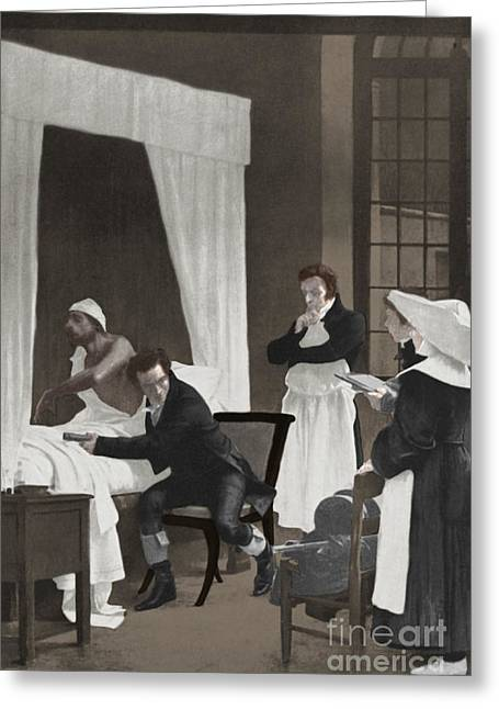 Hyacinthe Greeting Cards - Rene Laennec, French Physician Greeting Card by Science Source