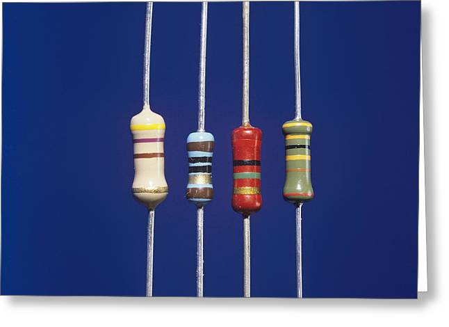 Resistors Greeting Card by Andrew Lambert Photography