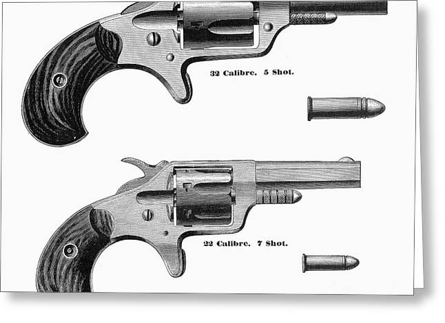 REVOLVERS, 19th CENTURY Greeting Card by Granger