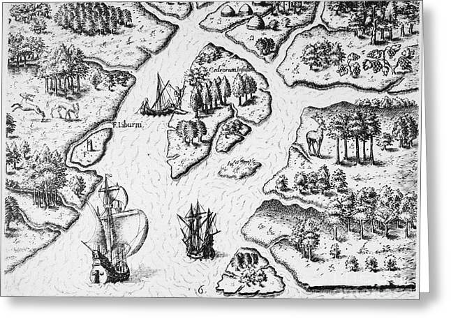 Renaissance Center Greeting Cards - Ribault Expedition, 1562 Greeting Card by Granger
