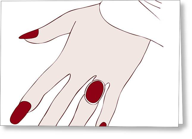 Ring Finger Greeting Card by Frank Tschakert