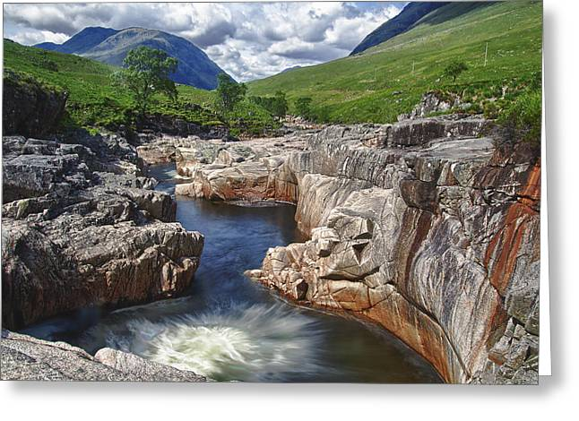 River Etive Greeting Card by Fiona Messenger