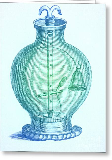 Boyle Greeting Cards - Robert Boyles Air Pumps Greeting Card by Science Source