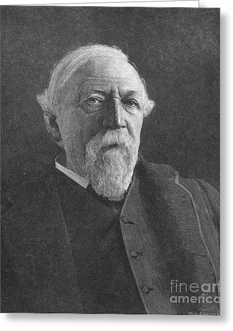 1880s Greeting Cards - Robert Browning (1812-1889) Greeting Card by Granger