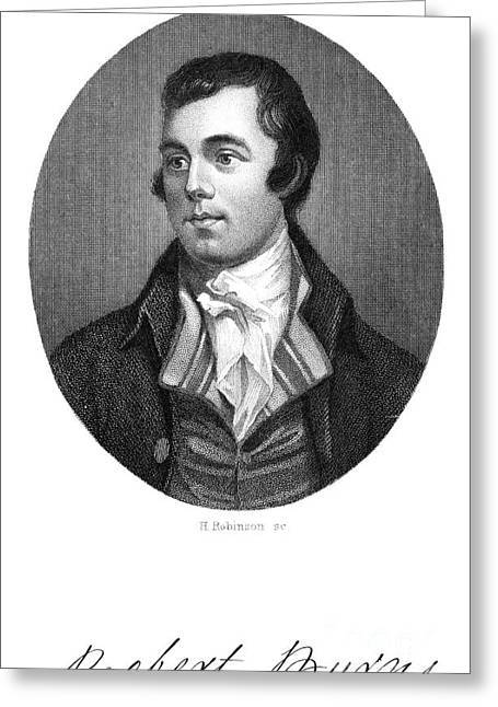 Autograph Greeting Cards - Robert Burns (1759-1796) Greeting Card by Granger