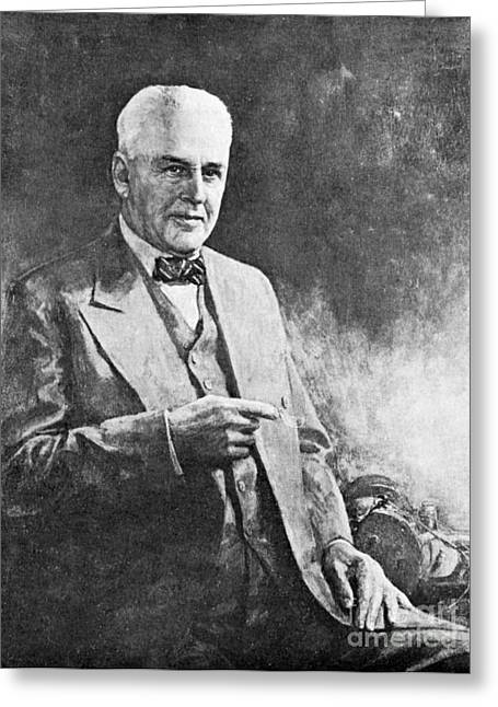 Nobel Recipient Greeting Cards - Robert Millikan, American Physicist Greeting Card by Science Source
