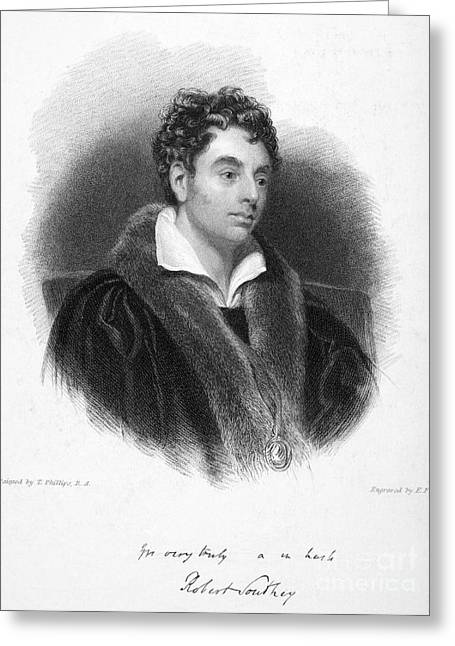 Autograph Greeting Cards - Robert Southey (1774-1843) Greeting Card by Granger