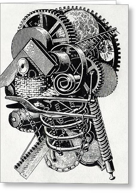 Mechanism Greeting Cards - Robot Science-fiction Artwork Greeting Card by Cci Archives