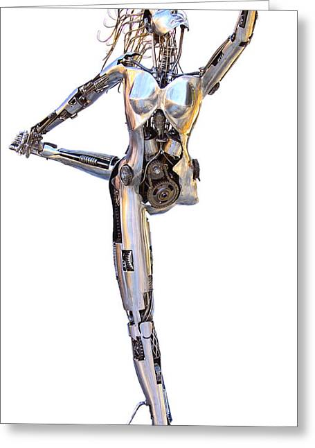 New Sculptures Greeting Cards - Robotica Balletronica Greeting Card by Greg Coffelt