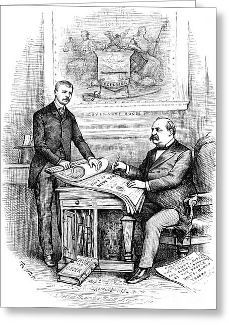 Reform Greeting Cards - Roosevelt Cartoon, 1884 Greeting Card by Granger