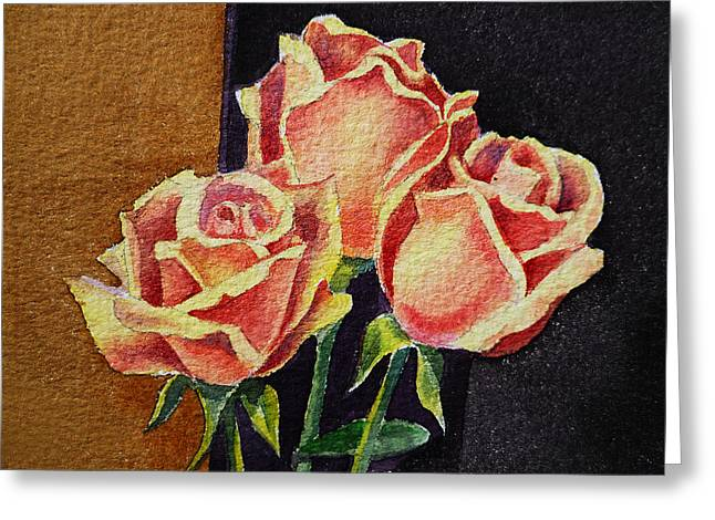 Old School Greeting Cards - Roses   Greeting Card by Irina Sztukowski