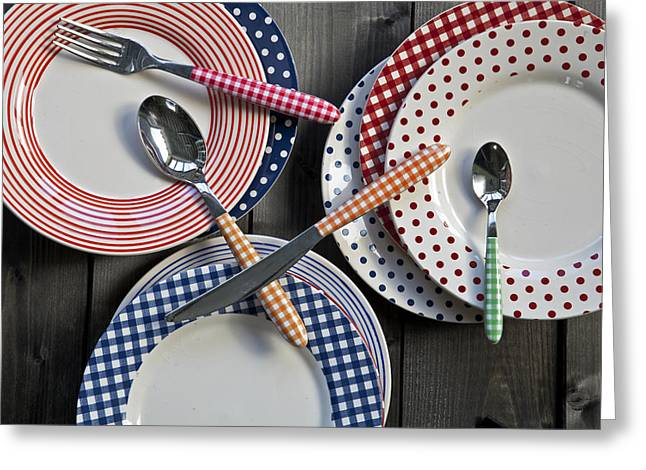 Teaspoon Greeting Cards - Rural Plates Greeting Card by Joana Kruse