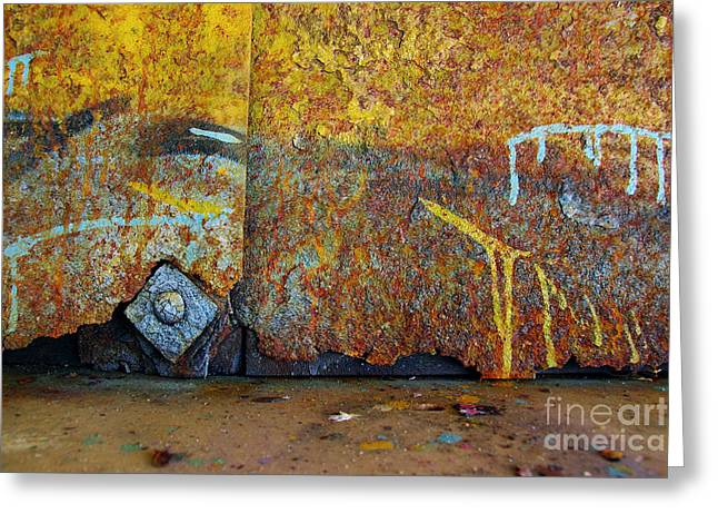 Vandalize Photographs Greeting Cards - Rust Colors Greeting Card by Carlos Caetano