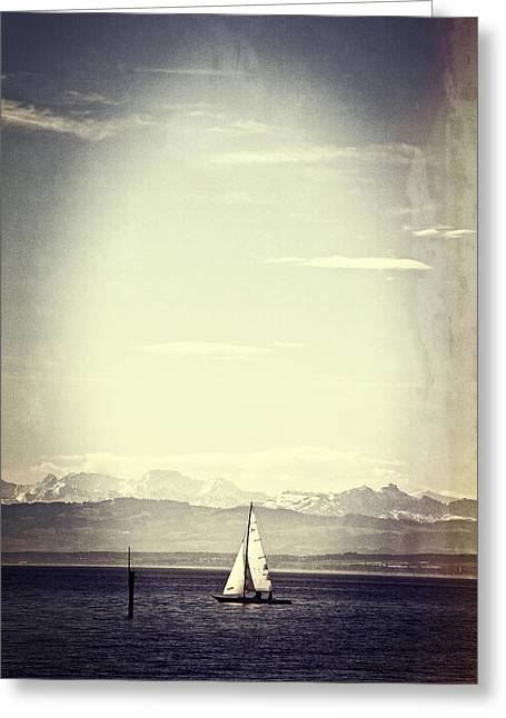 Sailing Ship Greeting Cards - Sailing Boat Greeting Card by Joana Kruse