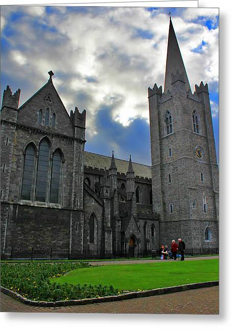Medieval Temple Greeting Cards - Saint Patricks Cathedral Greeting Card by Jeff Stein