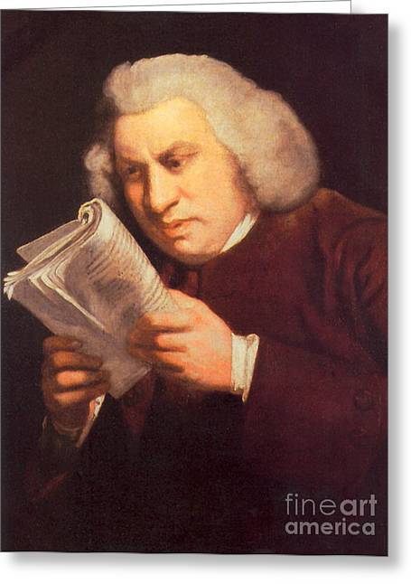 Bad Drawing Greeting Cards - Samuel Johnson, English Author Greeting Card by Photo Researchers