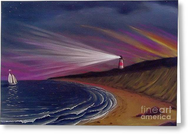 Cape Cod Pastels Greeting Cards - Sankaty Head Lighthouse Nantucket Greeting Card by Charles Harden