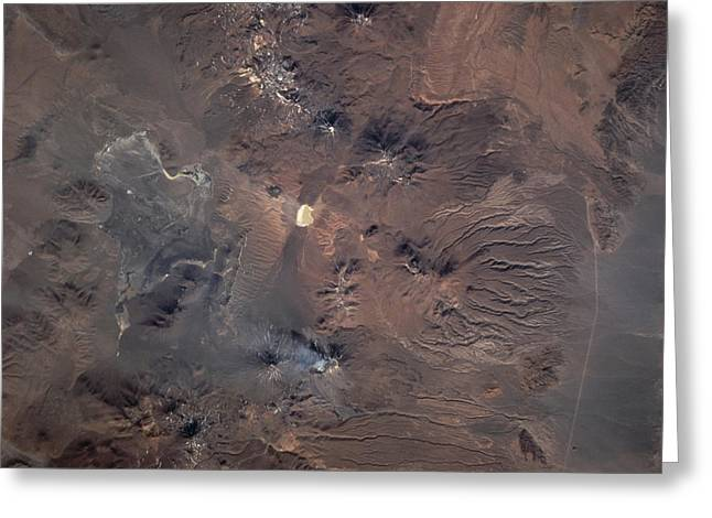 Terra Colors Greeting Cards - Satellite View Of Planet Earth Greeting Card by Stocktrek Images