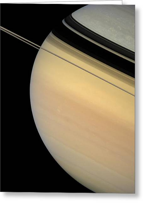 Gas Giant Greeting Cards - Saturn Greeting Card by Stocktrek Images